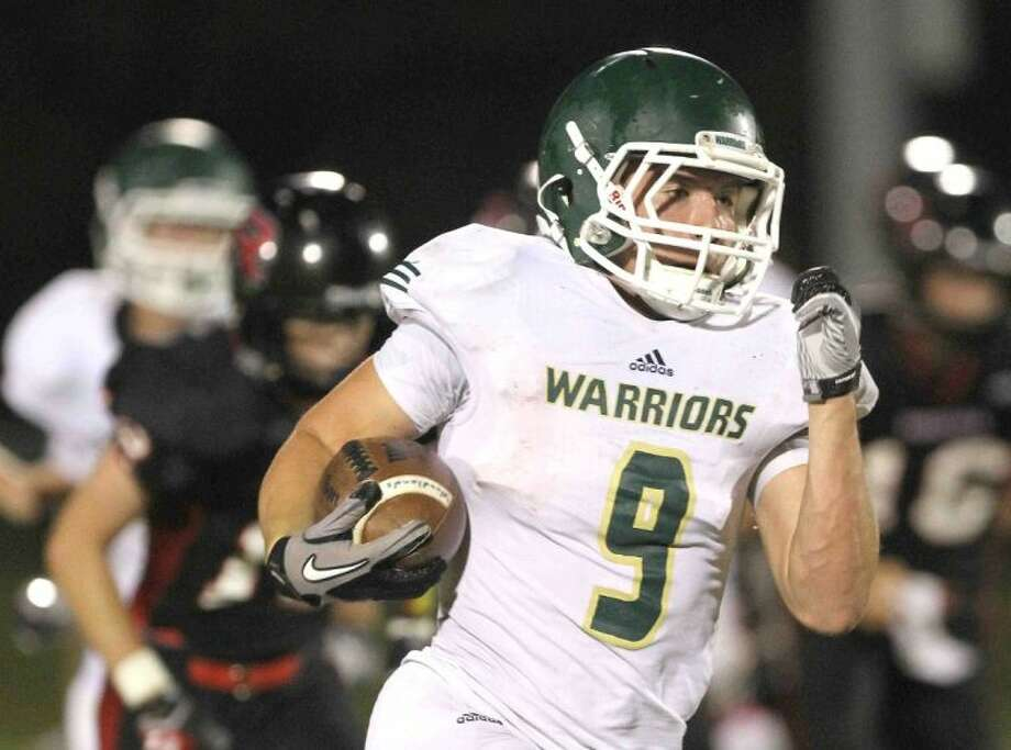 The Woodlands Christian Academy's Luke Hudson was nominated for Montgomery County Player of the Week after rushing for 111 yards and two touchdowns against Westbury Christian last week.