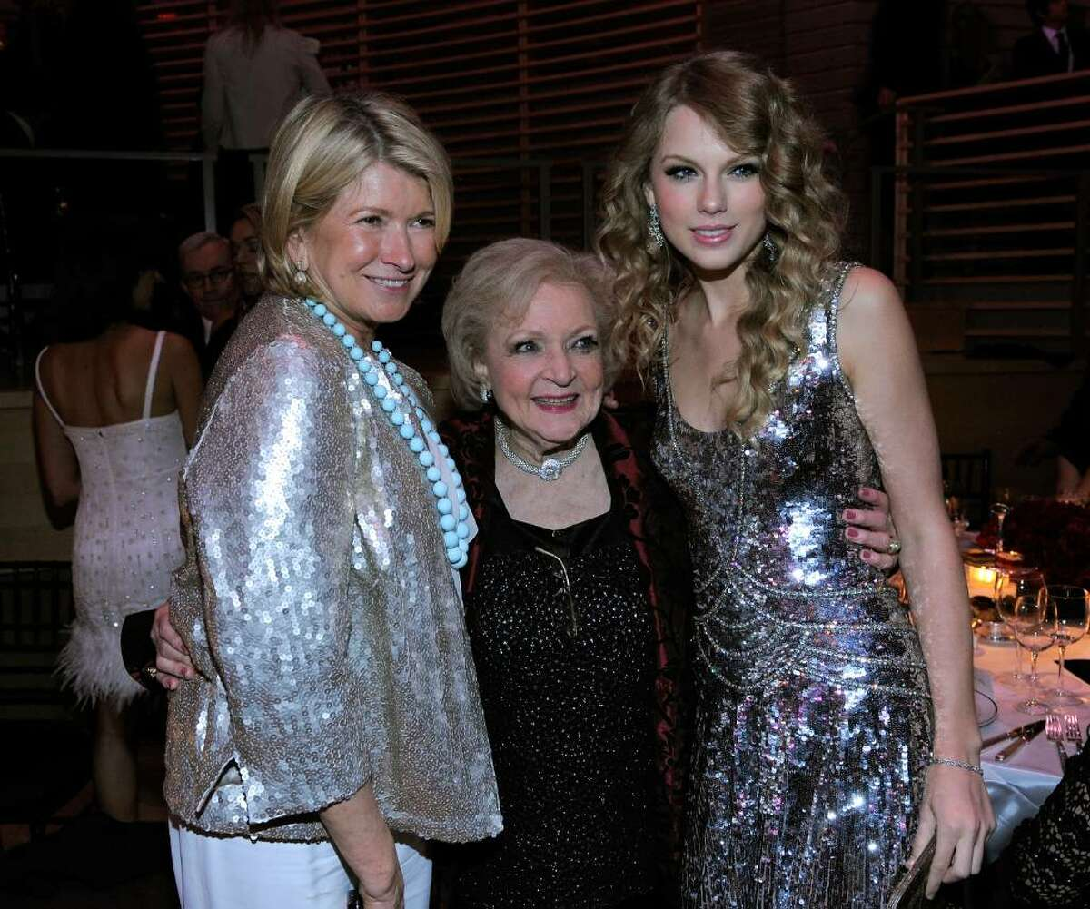 NEW YORK - MAY 04: Martha Stewart, Betty White and Taylor Swift attend Time's 100 most influential people in the world gala at Frederick P. Rose Hall, Jazz at Lincoln Center on May 4, 2010 in New York City. (Photo by Jemal Countess/Getty Images for Time Inc) *** Local Caption *** Martha Stewart;Betty White;Taylor Swift