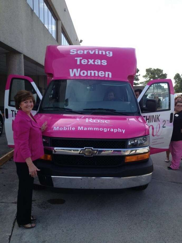 Dorothy Gibbons, CEO and Co-Founder of The Rose, recently accepted delivery of a third mobile van which will allow the nonprofit breast health organization to expand coverage to the surrounding counties. Photo: Courtesy The Rose