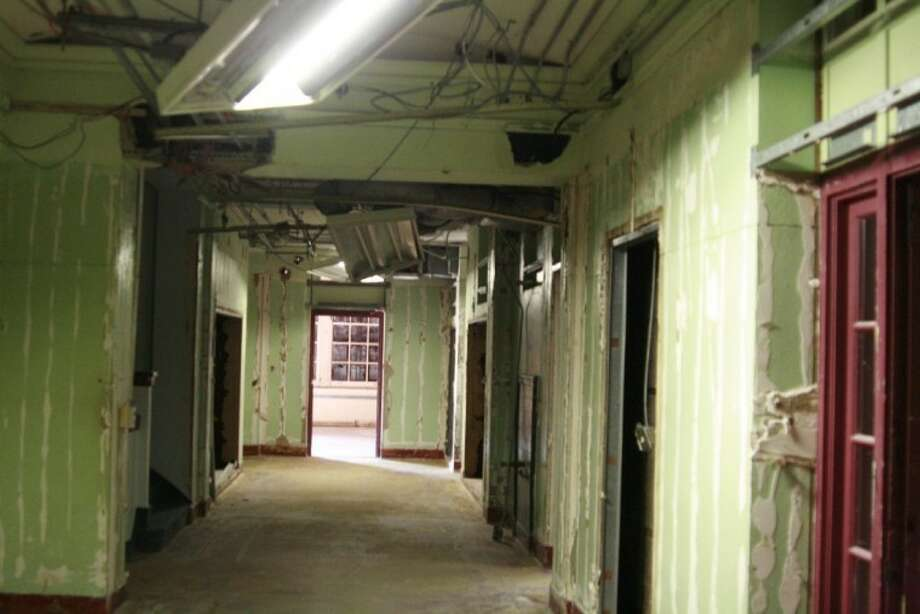 The City of Humble has worked to remove asbestos and portions of the Charles Bender High School in order for them to renovate the first floor as a theater auditorium and open meeting rooms for the community.