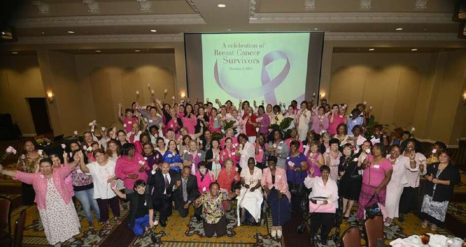More than 150 breast cancer survivors celebrate life during the ninth annual Harris Health System Breast Cancer Survivors Luncheon on Oct. 4 at the Bayou City Event Center.