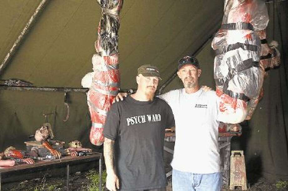 Longtime friends and owners of Containment Zone, Brian Mladenka and Thomas Siry, are gearing up for Halloween and their first year in business. Photo: STEPHANIE BUCKNER / @WireImgId=2644247