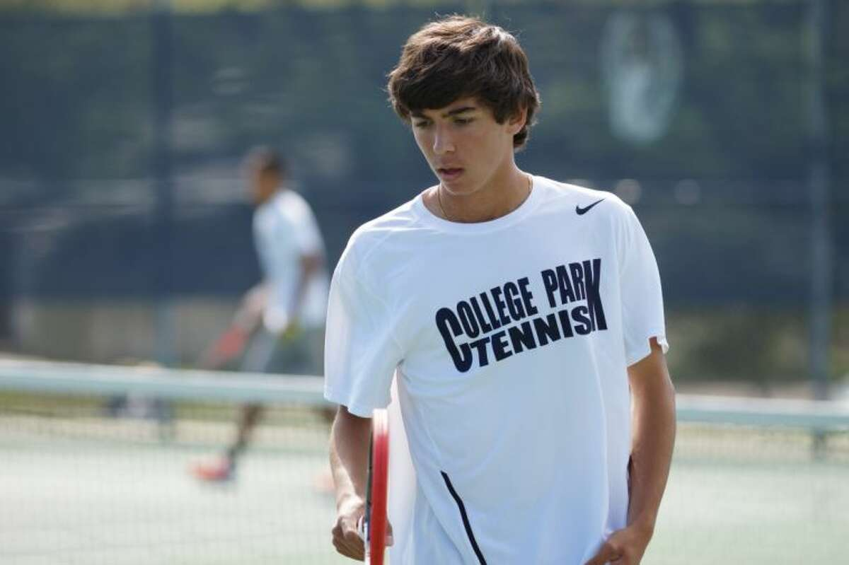 College Park's Niko Moceanu is the District 14-5A boys singles champion.