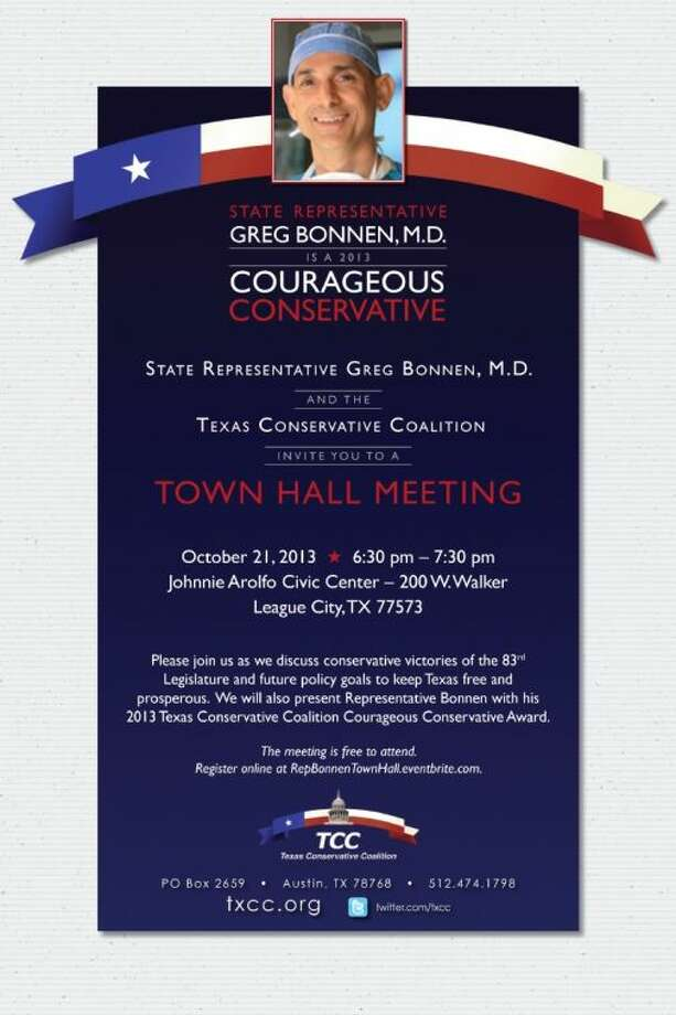 Bonnen to hold Town Hall Meeting Oct. 21