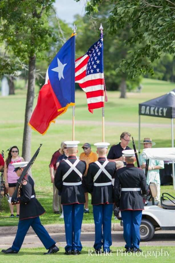 All five high schools including Humble, Atascocita, Kingwood, Kingwood Park and Summer Creek High Schools have signed on to bring their Jr. ROTC students to present the colors and a special entrance where they all raise the swords to create a special entry presentation for all veterans.