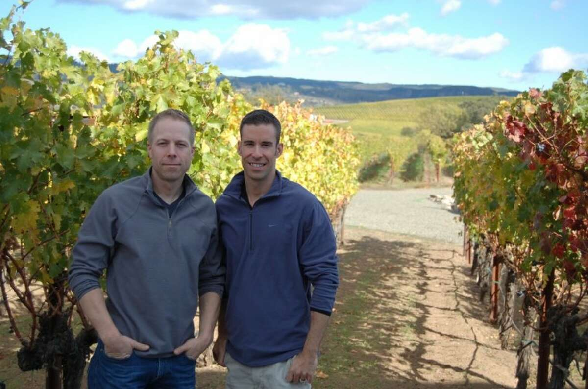 Ian Eastveld (left) and Ryan Levy, co-owners of Houston-based The Nice Winery, visit the vineyards in California and Argentina where their product begins. They are also exploring a new project in Italy.