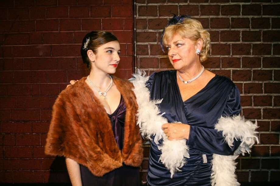 Louise/Gypsy Rose Lee, played by Luci Galloway, talks with Mama Rose (Julie Owen) in Gypsy by Laurents, Styne and Sondheim, which opened August 24 at Pasadena Little Theatre, 4318 Allen-Genoa Road. Show times are 8 p.m., Fridays and Saturdays and 3 p.m. Sunday, through Sept. 16. For reservations, call 713-941-1758 or online at www.pasadenalittletheatre.com Photo: SUBMITTED PHOTO