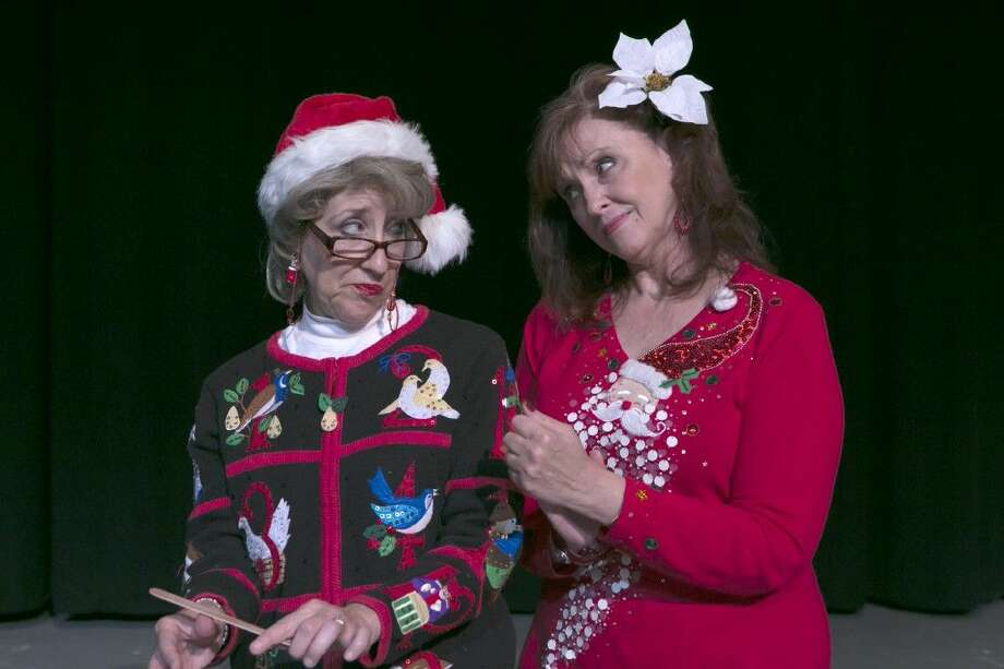 """Carolyn Wong as Geneva, left, with Amy Sowers, right, as Honey Raye Futrelle in Stage Right's """"Christmas Belles."""" The final shows are at the Crighton Theatre this weekend through Sunday. Photo: Michael Pittman"""