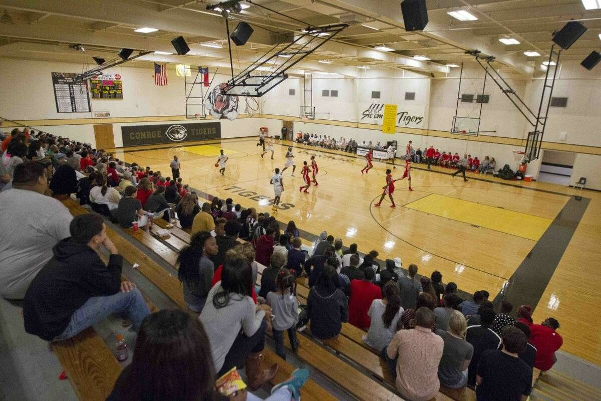 """Conroe High School's """"The Pit"""" gymansium (shown here), as well as Marsha Porter Gymnasium, will host the 51st annual Conroe Christmas Classic basketball tournament Monday and Tuesday."""