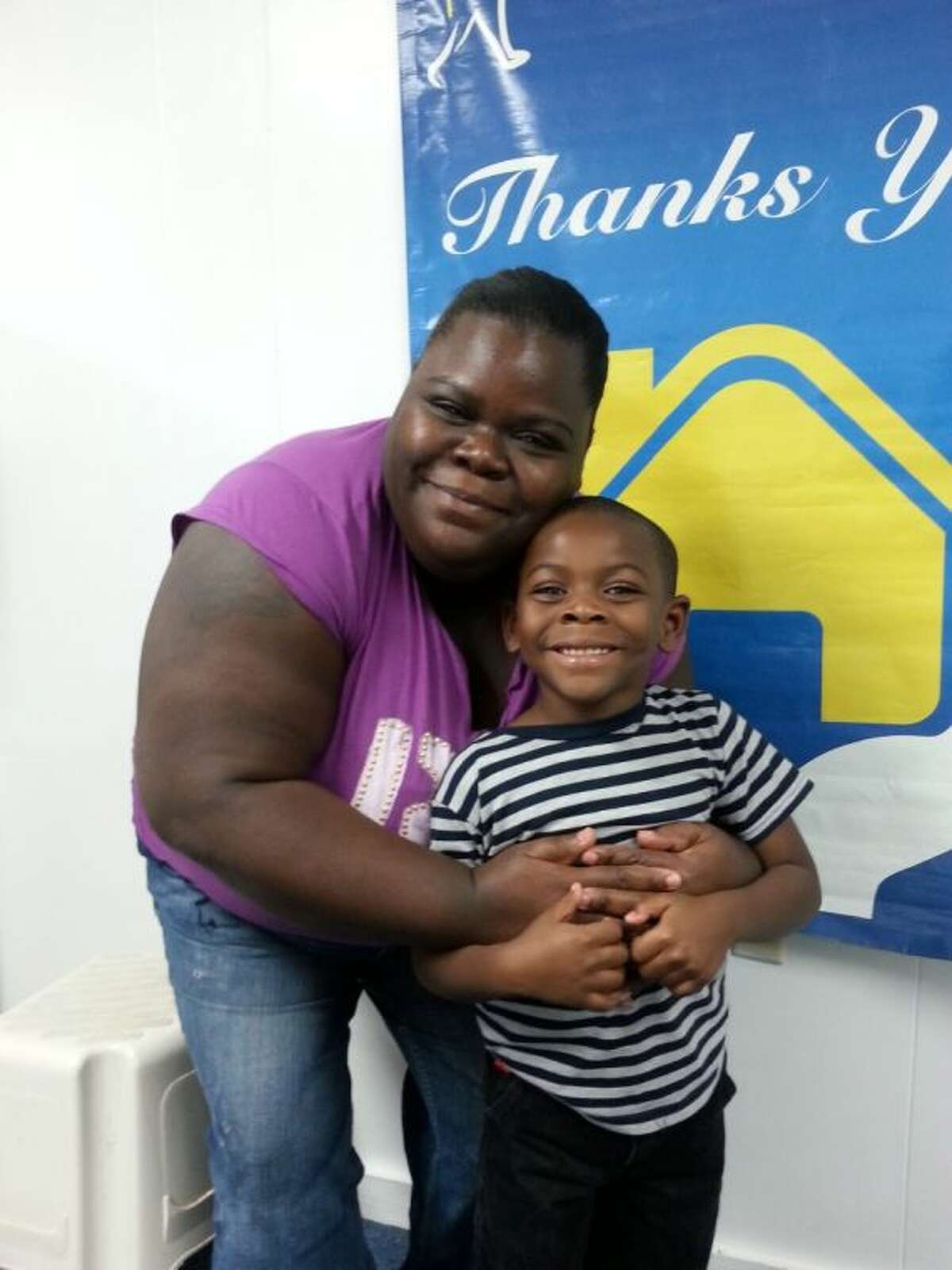 Latisha Coleman and her six-year-old son Devin, two of the beneficiaries of Fort Bend Family Promise.
