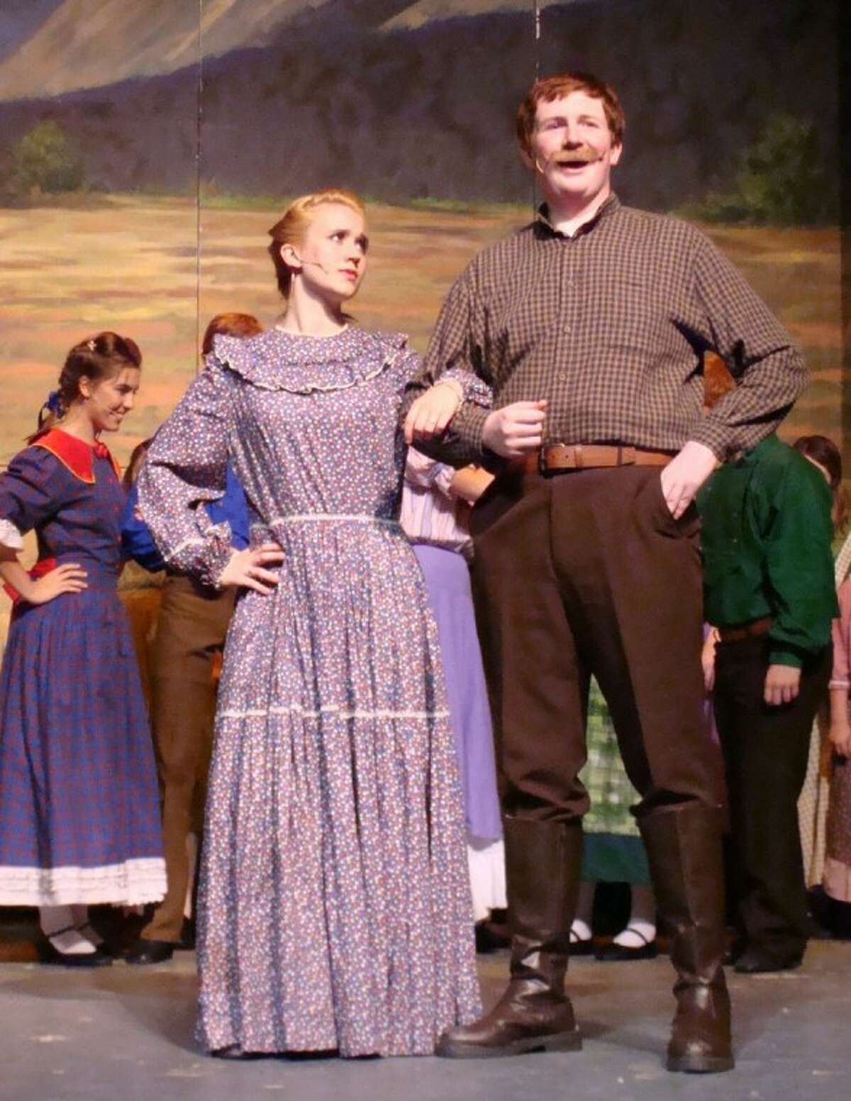 Kalyn Hill, 17, a homeschool student also plays Milly along with Austin Hartis as Adam Pontipee in CYT's