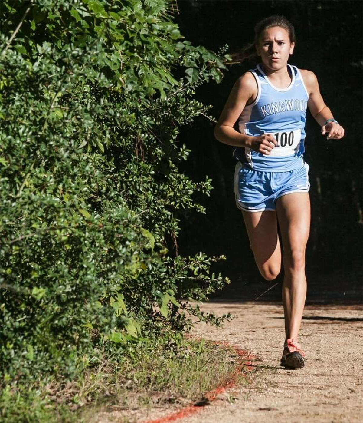 Kingwood's Abby Guidry finished first at the District 13-5A girls cross country championships on Wednesday.