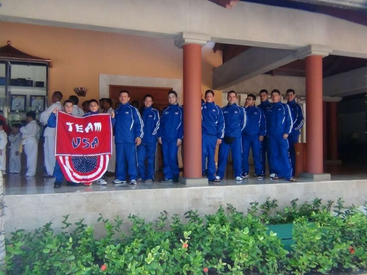 Master Cesar Marin of The Marin Martial Arts School of Pearland took 11 competitors, including Alfredo Bustamante, to the international tournament.