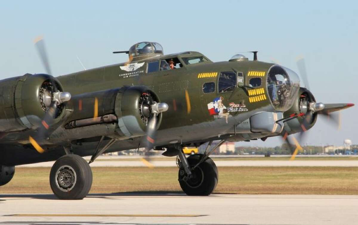 On Saturday, Nov. 2, the four giant Wright-Cyclone engines of Texas Raiders, a fully restored B-17 Flying Fortress will be roaring over Spring.