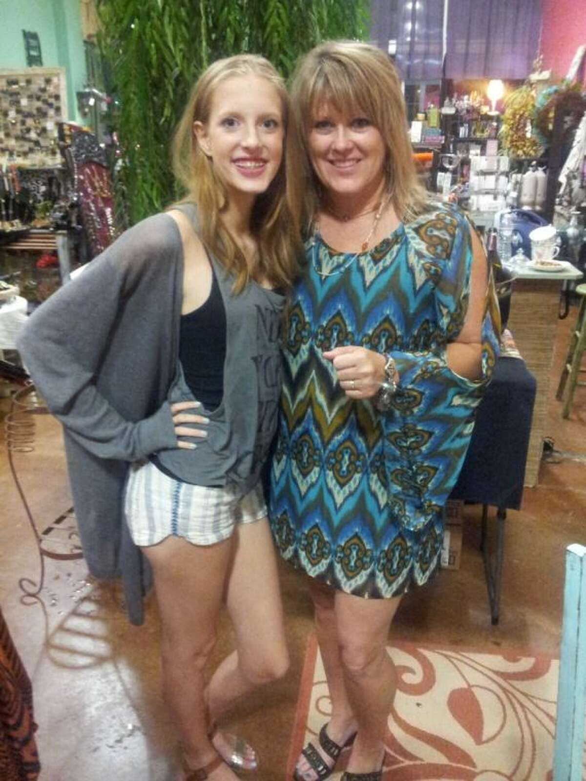 Jennifer Moore, right, with employee, Jessi; fondly called Jennika by her family and friends, a nickname her Czech grandmother gave her, celebrated the third anniversary of her shop in style.
