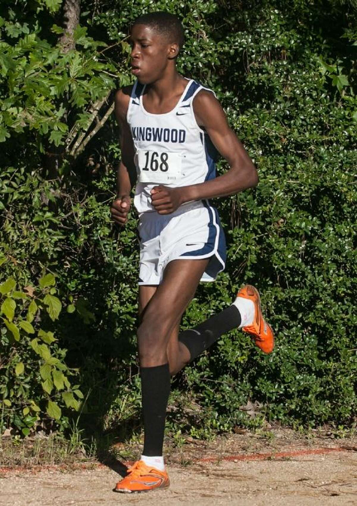 Kingwood's Charles Mills took second in the District 13-5A cross country championships at Atascocita High School on Wednesday.