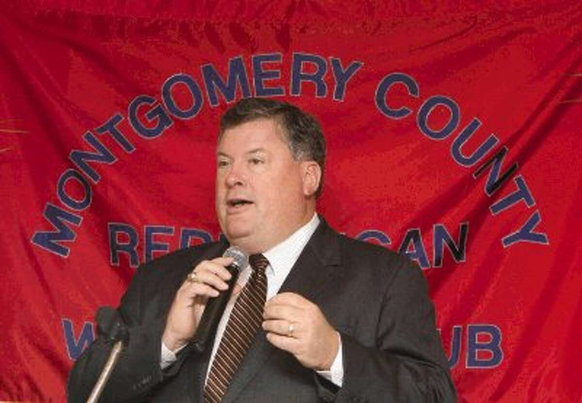 Texas Sen. Tommy Williams, R-The Woodlands, speaks at a Montgomery County Republican Women's luncheon at River Plantation Country Club Thursday.