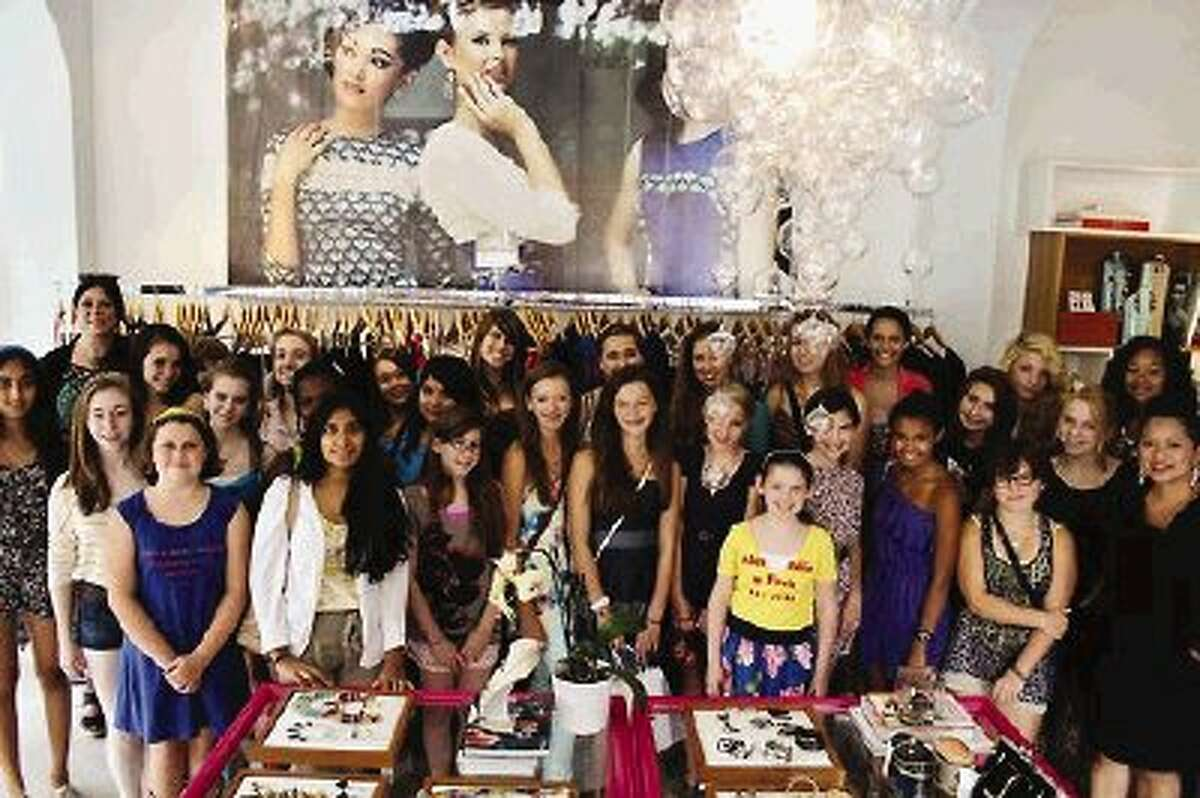 Students of a Houston fashion camp.