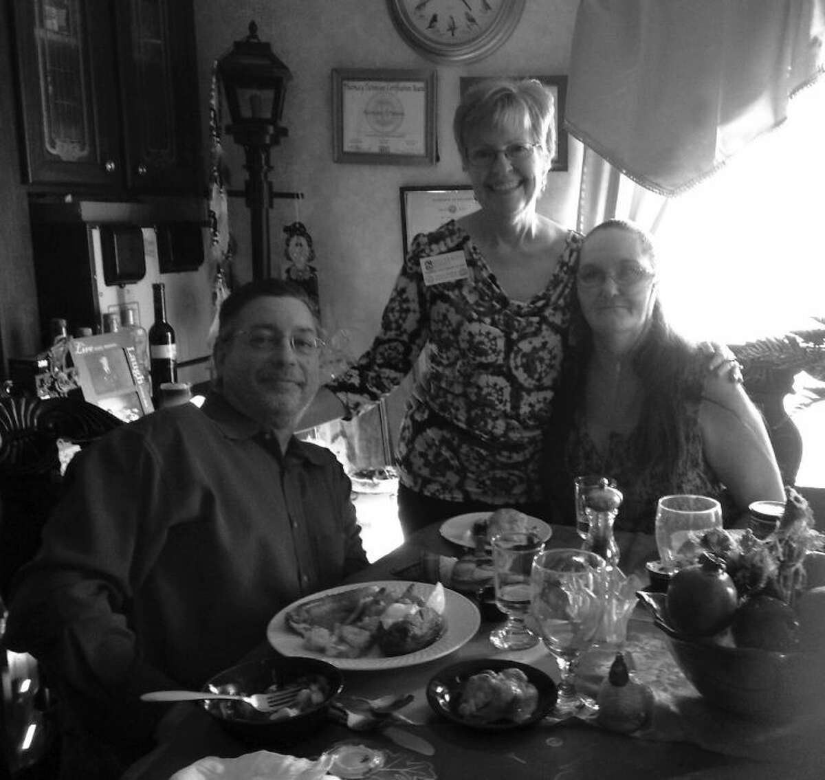 Richmond resident and hospice patient Morrissia Sauer and her husband enjoy a special Red Lobster dinner arranged by a representative from Silverado Hospice.