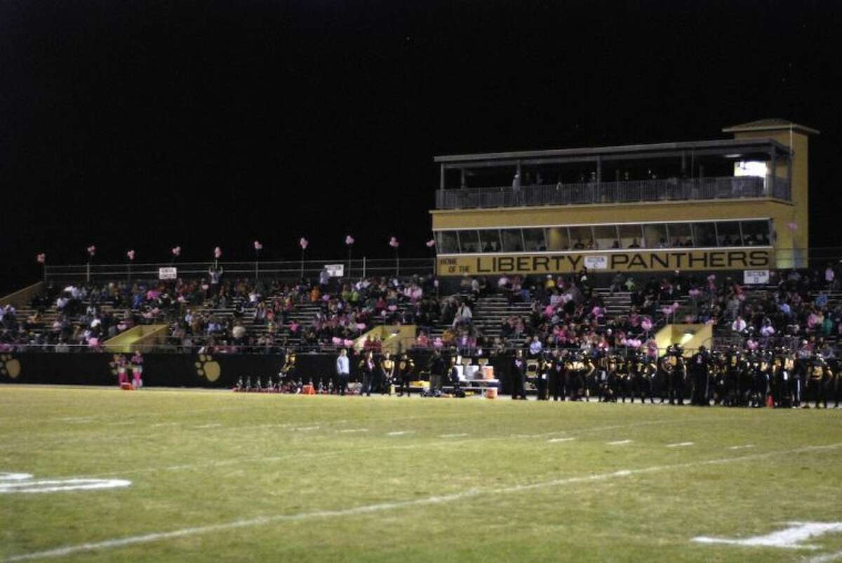 A thin crowd turned out for Liberty's home game Friday, Oct. 25, against Coldspring.