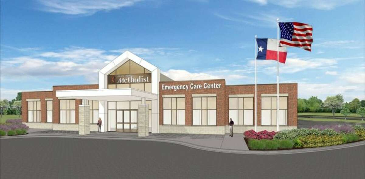 A computer rendering of the soon-to-open Houston Methodist Emergency Care Center in Missouri City, located between the Sienna Plantation and Riverstone communities.
