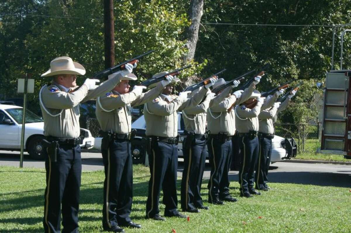 A 21-gun salute was given in honor of fallen Liberty County Sheriff's Deputy Odell McDuffie Jr., who was killed in a car accident in 2010.
