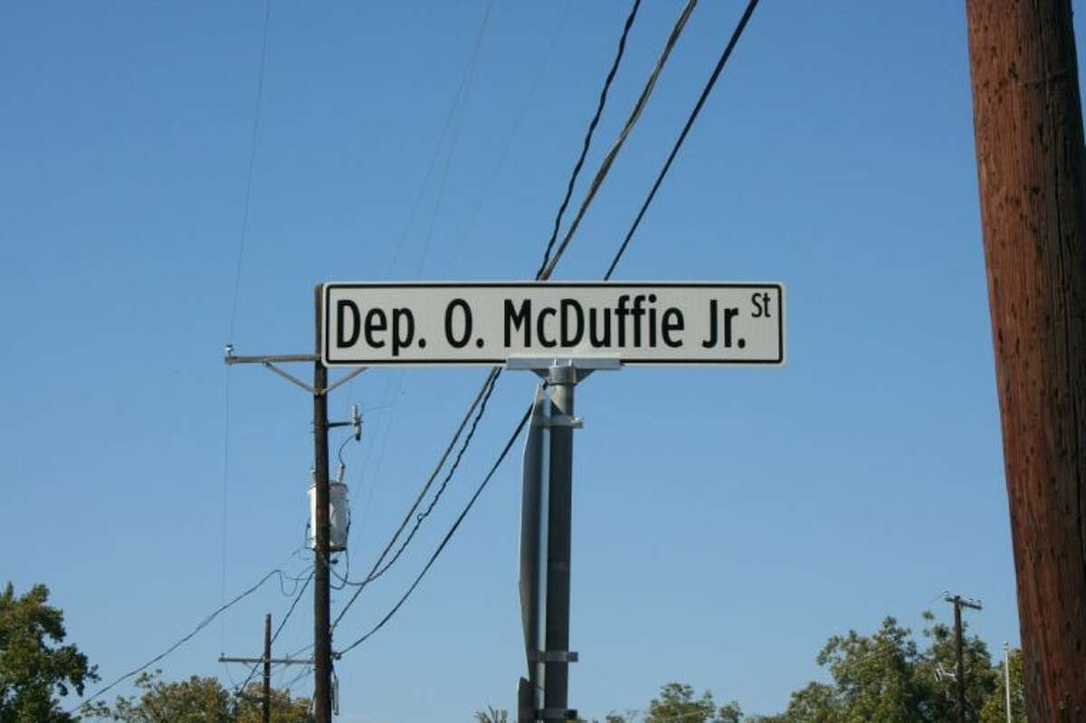 East St. in Cleveland was renamed in honor of fallen Liberty County Sheriff's Deputy Odell McDuffie Jr., during a ceremony on Oct. 27.