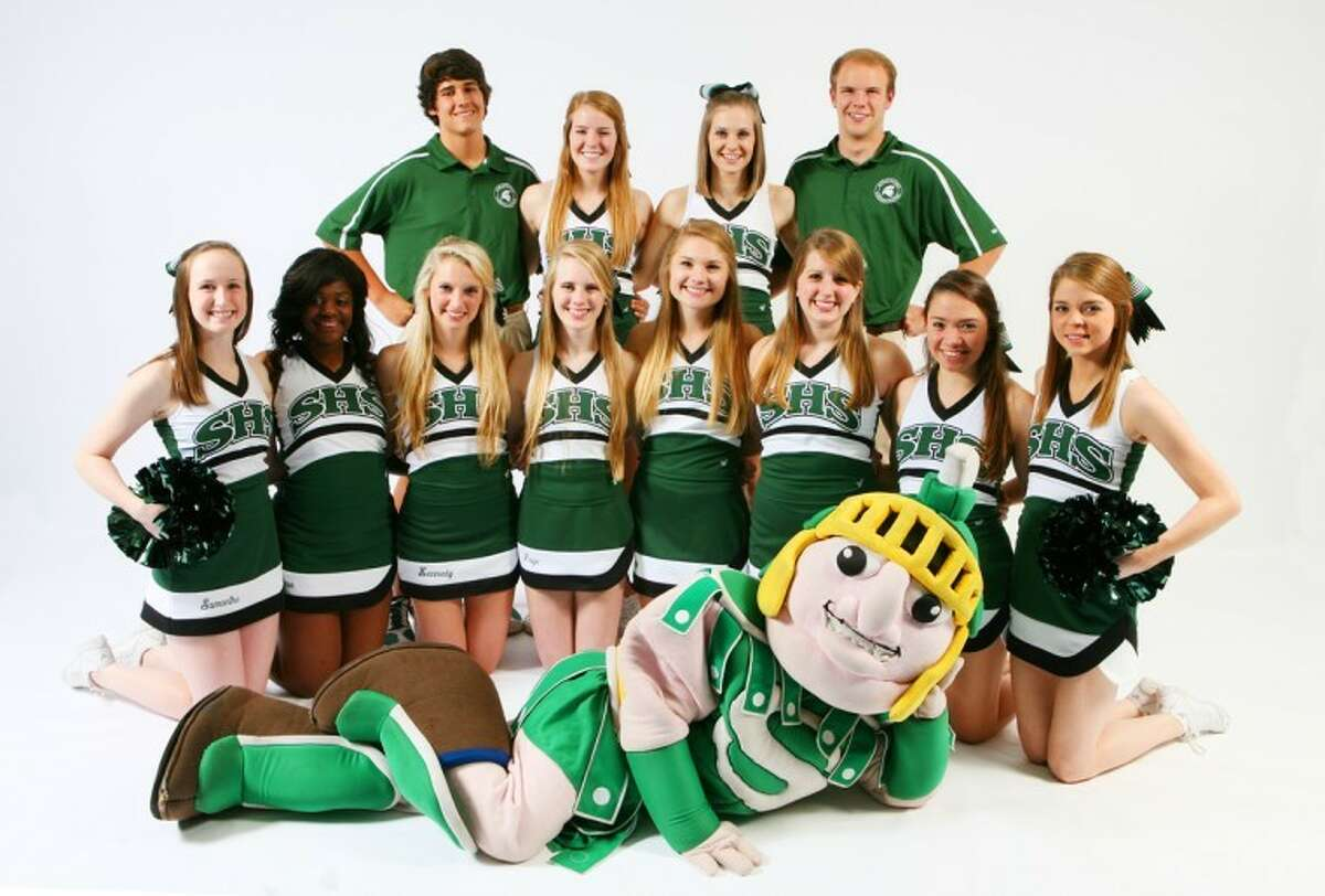 Stratford High School has announced its Varsity Cheer Squad for the 2012-2013 school year. Pictured are(front, from left) Samantha Hicks, Keara Ledet, Kennedy Meek, Paige Tormey, Abby Moore, Michelle Evans, Mirielle Pinedo, Taylor Candelario, (back row) Dawson Morby, Mary Margaret Weaver, Claire Aven and Will Choice. Up front is mascot Camila Castaneda.