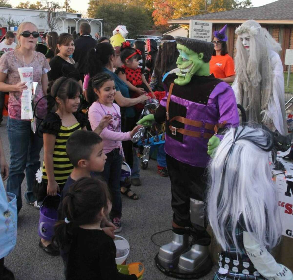 Kids enjoyed a safe Halloween experience at Treat Street in Cleveland on Oct. 31, 2012. The annual event sponsored by the Unity Committee of Cleveland is moving to Stancil Park in order to provide a safer venue for the children.