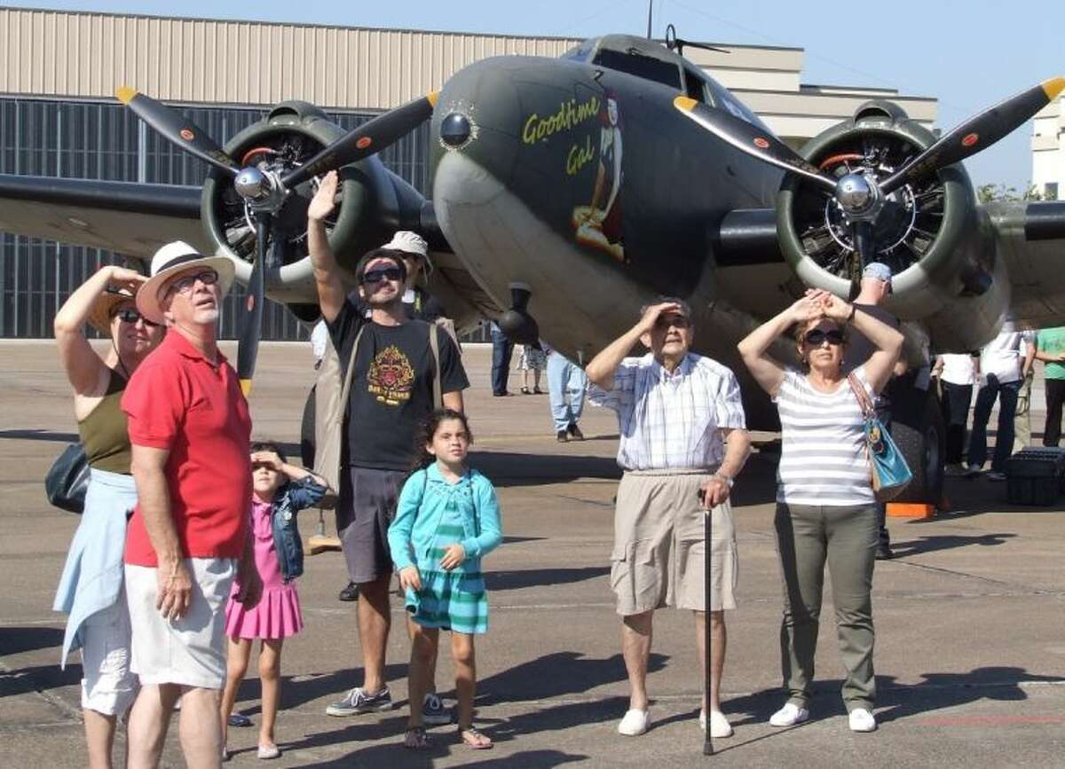Multiple generations looked skyward as the Wings Over Houston air show was held in perfect weather on Saturday (October 26).