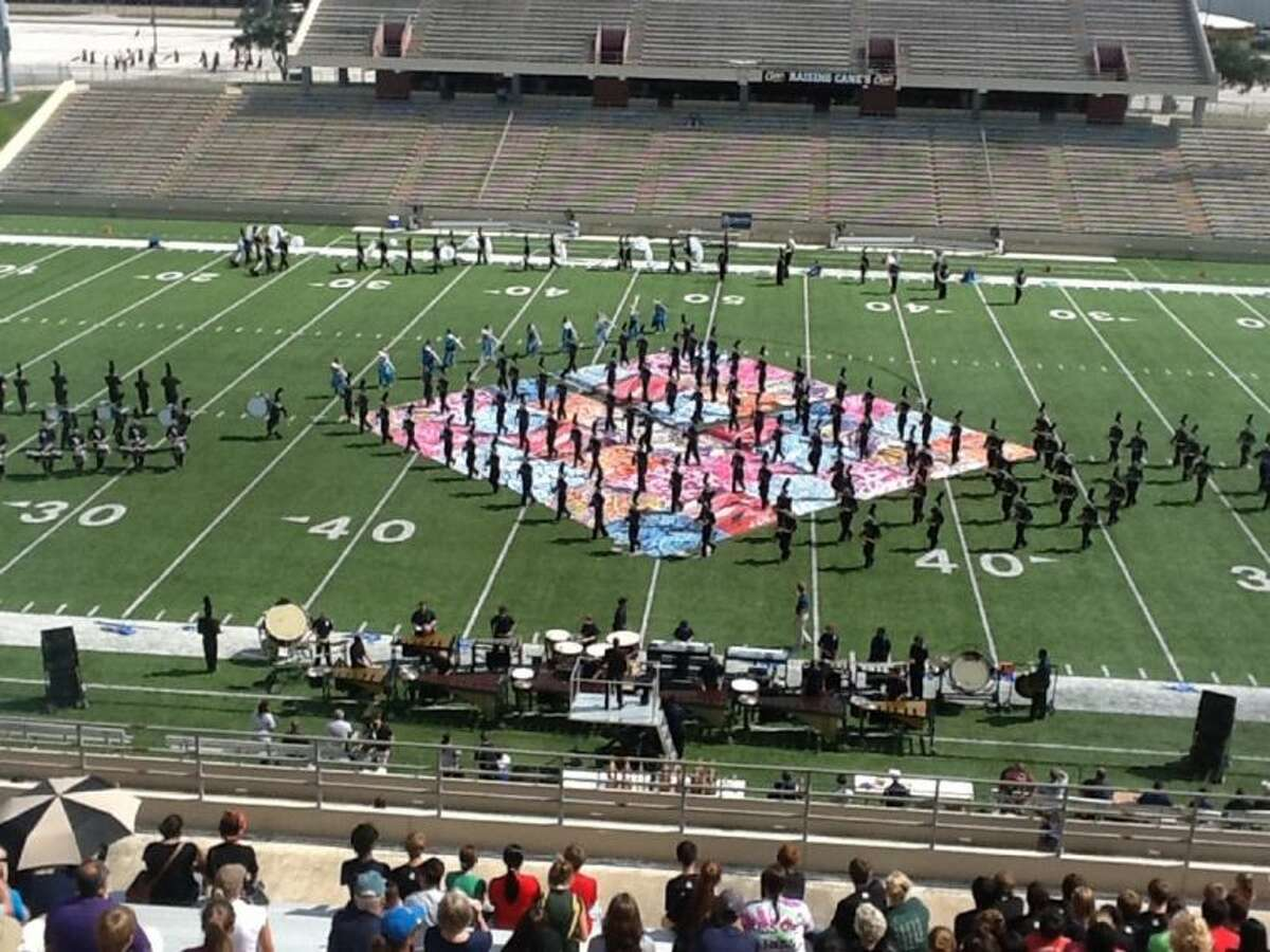 The Cypress Ranch High School marching band performs its 2013 show,
