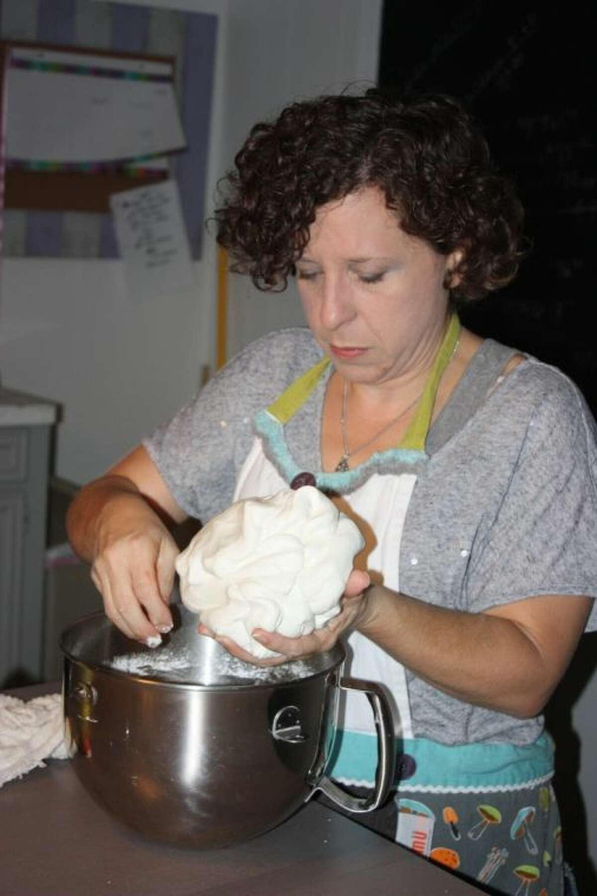 Angie Sweeten spends many nights baking and making fondant in order to create the perfect cake for her customers.