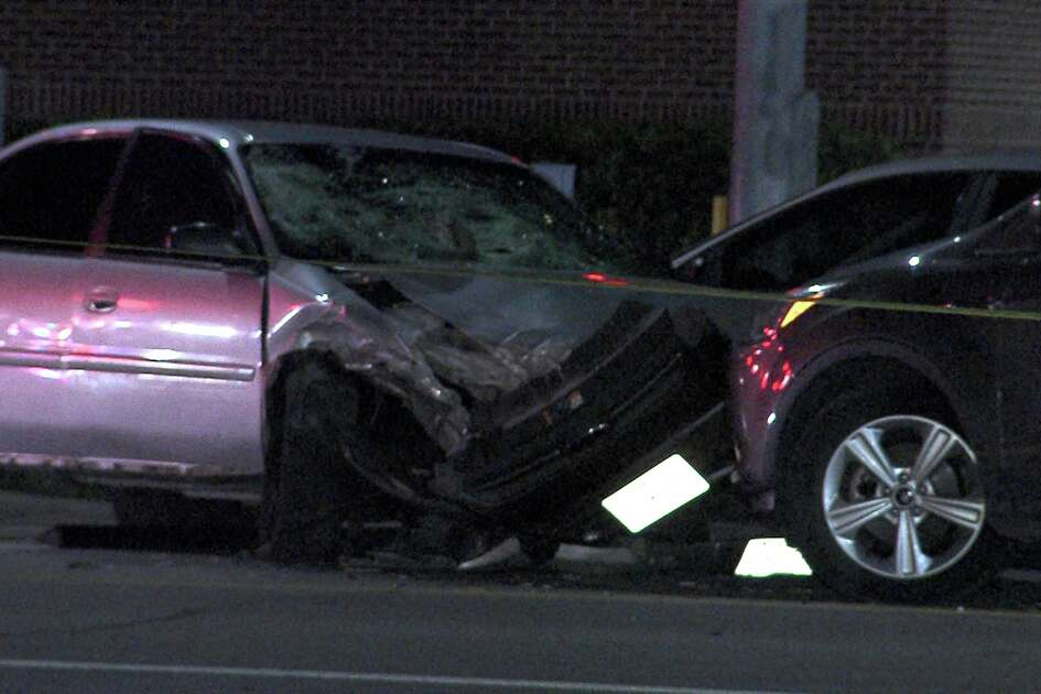 At least two people were hospitalized after a man hit two pedestrians and crashed head-on into another vehicle on Sept. 29, 2016 on the North Side.