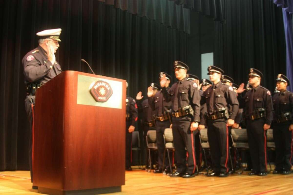 The Pasadena Police Department hosted a Graduation Ceremony for the 65th Basic Academy Graduating Class Friday (August 24). Class President Daniel L. Burden was among the honored speakers.