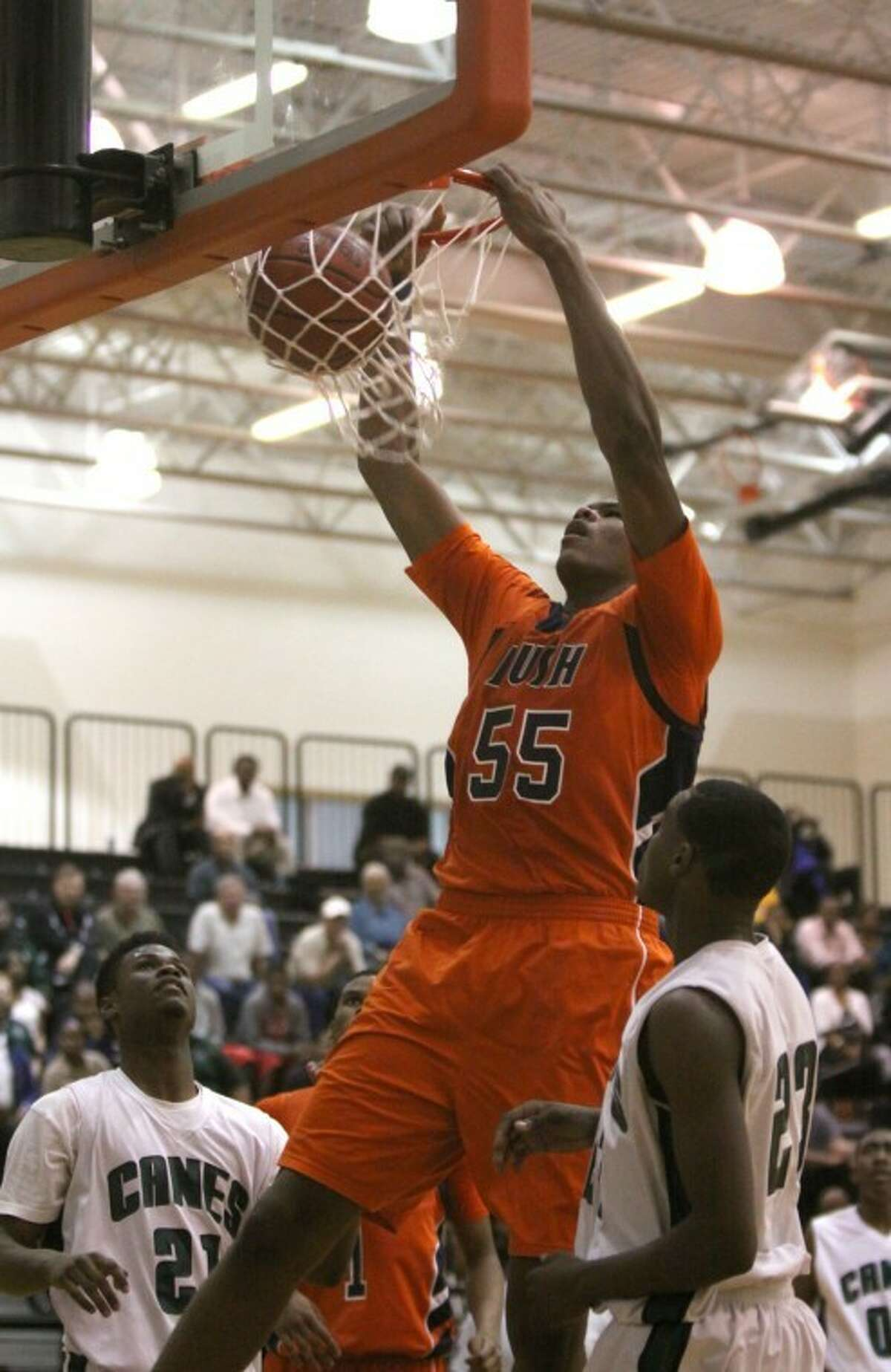 Bush's Cameron Ridleysigned a national letter of intent with the Texas Longhorns on Wednesday.(Photo by Alan Warren)