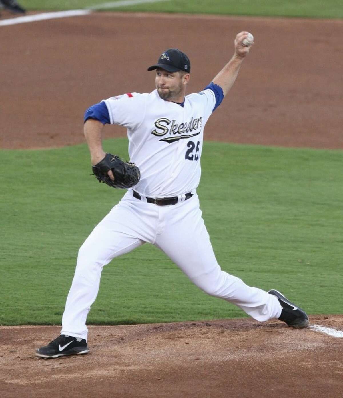 Former Houston Astros outfielder Jason Lane was a rare double threat for the Skeeters, leading the team in pitching victories while compiling an .808 OPS in 229 at-bats.