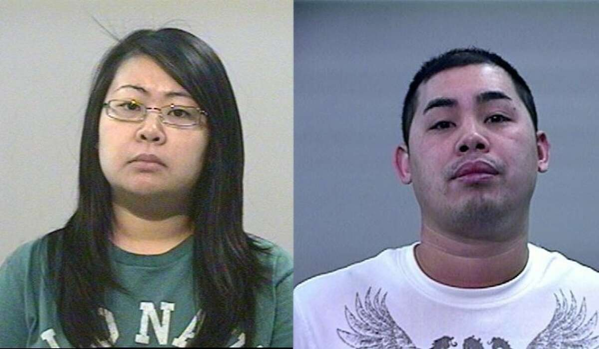 Pearland-residents Barbara Churn, 29, (left) and boyfriend Son Hoanh Lee, 27, (right) allegedly partnered with four other gang members in an illegal gambling operation. The pair was recently indicted by a Brazoria County Grand Jury on felony charges of money laundering and engaging in an organized criminal organization. Le was also charged with felony drug possession.