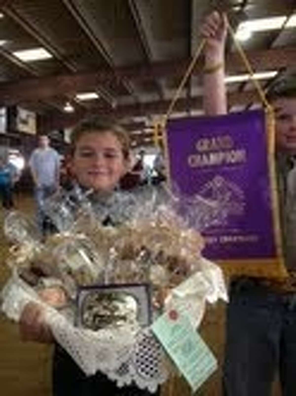 Henry Botkin-Henderson won Grand Champion with his homemade fudge.