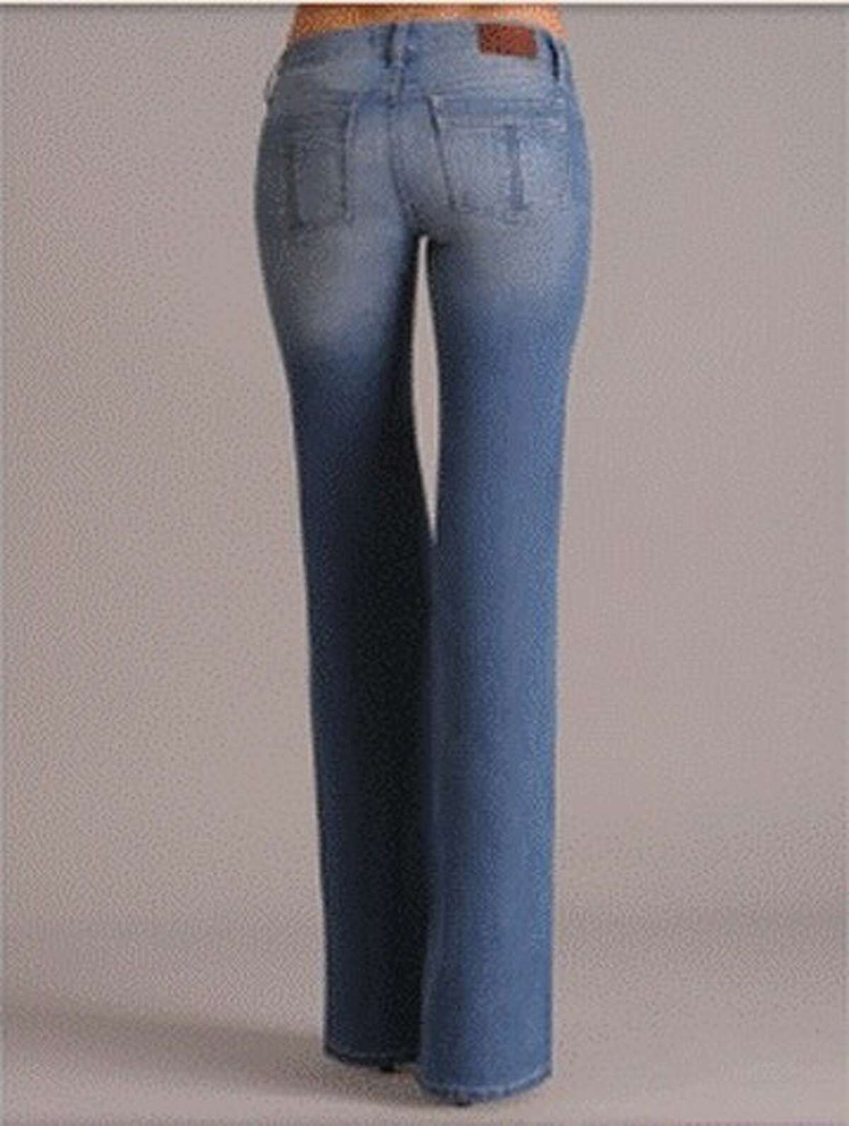 Boot Cut Jeans by Henry & Belle. Straight leg or boot cut jeans should hit at the bottom of your heel or longer depending on the shoes.