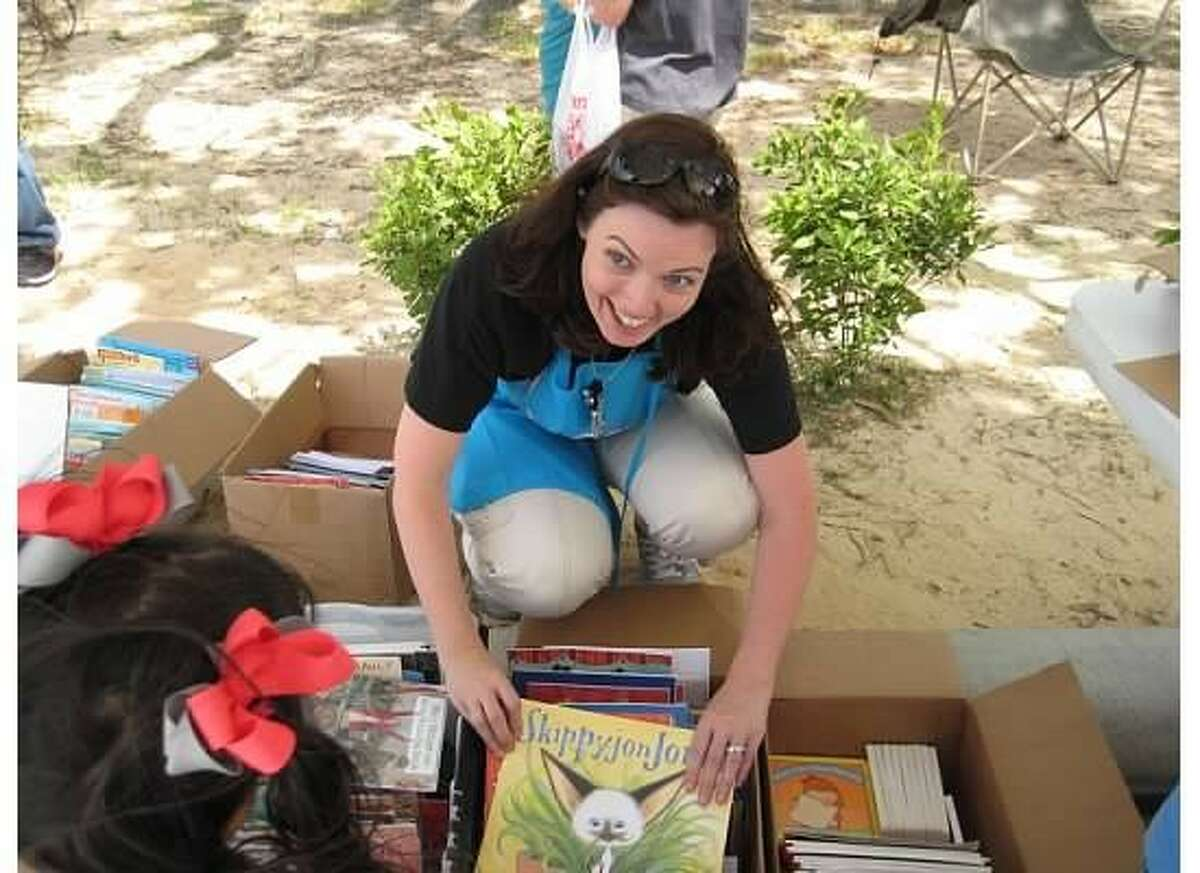 Amy Garza is pictured at the Junior League Harris County South Montgomery County Literacy Festival.