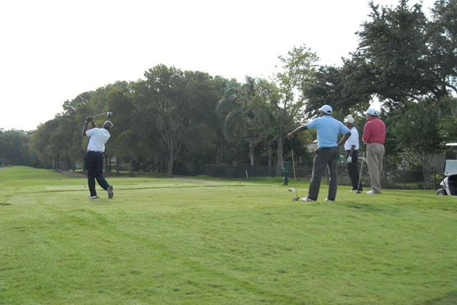 Golfers tee off for HCC's Annual Fall Golf Classic to benefit the Minority Male Initiative program.