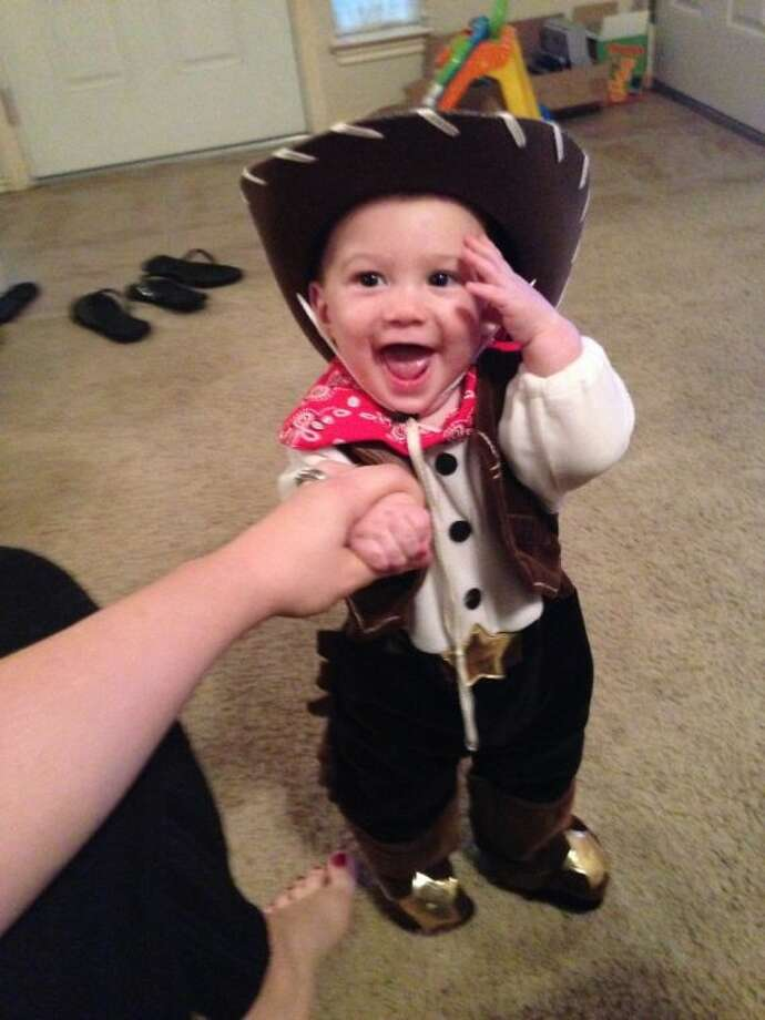 FIRST PLACE With 203 votes 6-month-old Jackson Czervinske is the  sc 1 st  Houston Chronicle & Halloween costume contest winners announced - Houston Chronicle