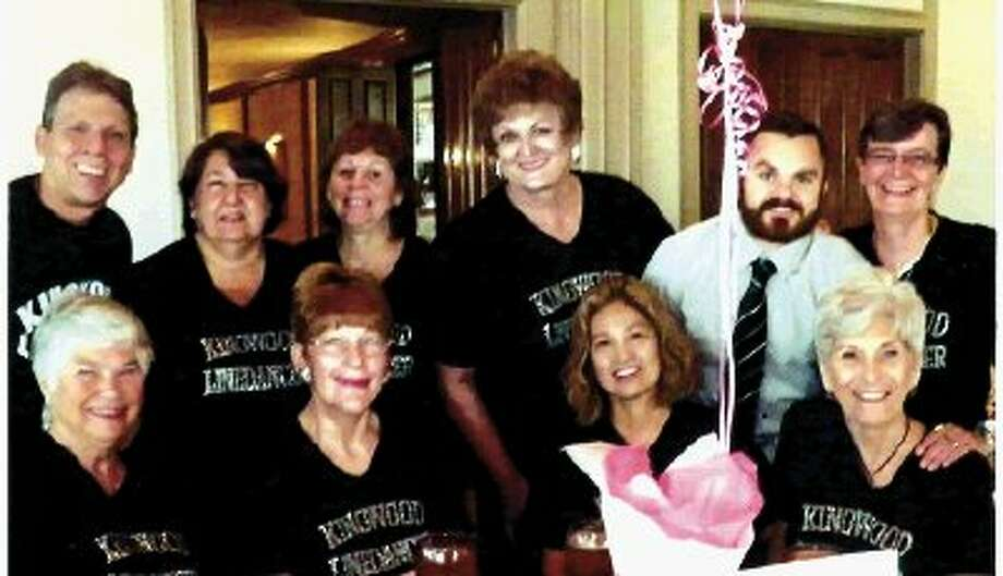 Pictured are the Kingwood line dancers who performed. Front row, left to right: Juanita Jordan, Darlene Lemesh, Connie Shifferd, and Martha Mierendorf. Back row, left to right: Mike Ledet, Donna Ledet, Nanette Wroe, Kay Caffey, Justin Hagendorf (Kingwood Community Center facilities manager) and Petra Ringeisen.