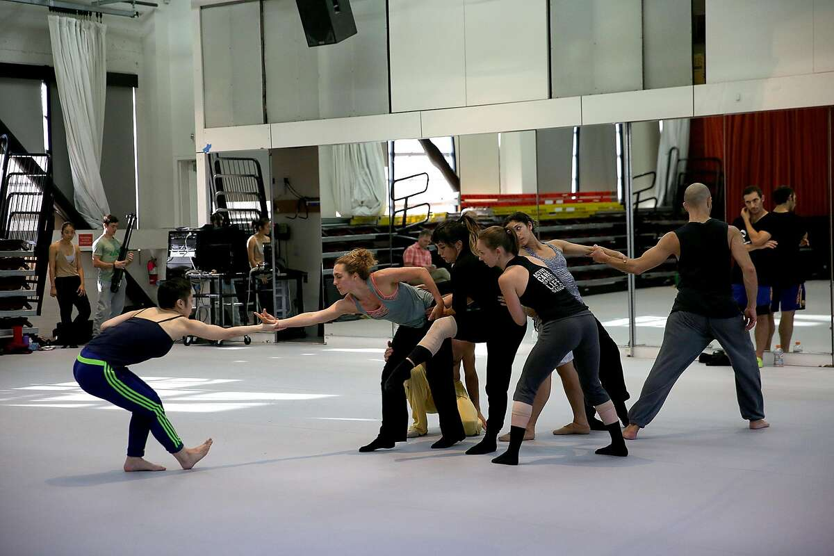 ODC choreographer Brenda Way watches a rehearsal, on Tuesday, September 27, 2016, in San Francisco, Calif.