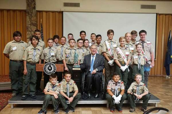 Texas Gov. Greg Abbott, a former Boy Scout, was in Midland to receive the Buffalo Trail Council's Distinguished Citizen's award. The third Texas governor to be honored, Abbott said it was special to receive the award in front of so many Midlanders who hold a special place in their hearts for scouting and the values it passes on.