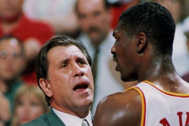 05/31/1994 - Rockets vs. Utah, Playoff Game 5. coach Rudy Tomjanovich and Hakeem Olajuwon.