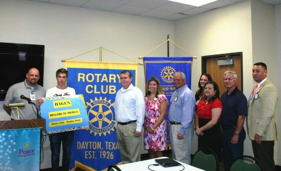 The Dayton Rotary Club generally and the host Gunter family especially help  to give Rotarian and