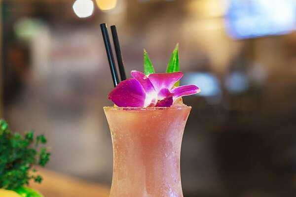 Palm House Fros� Cocktail (ros�, thyme, strawberry pur�e, lemon juice and rum; $9.75).