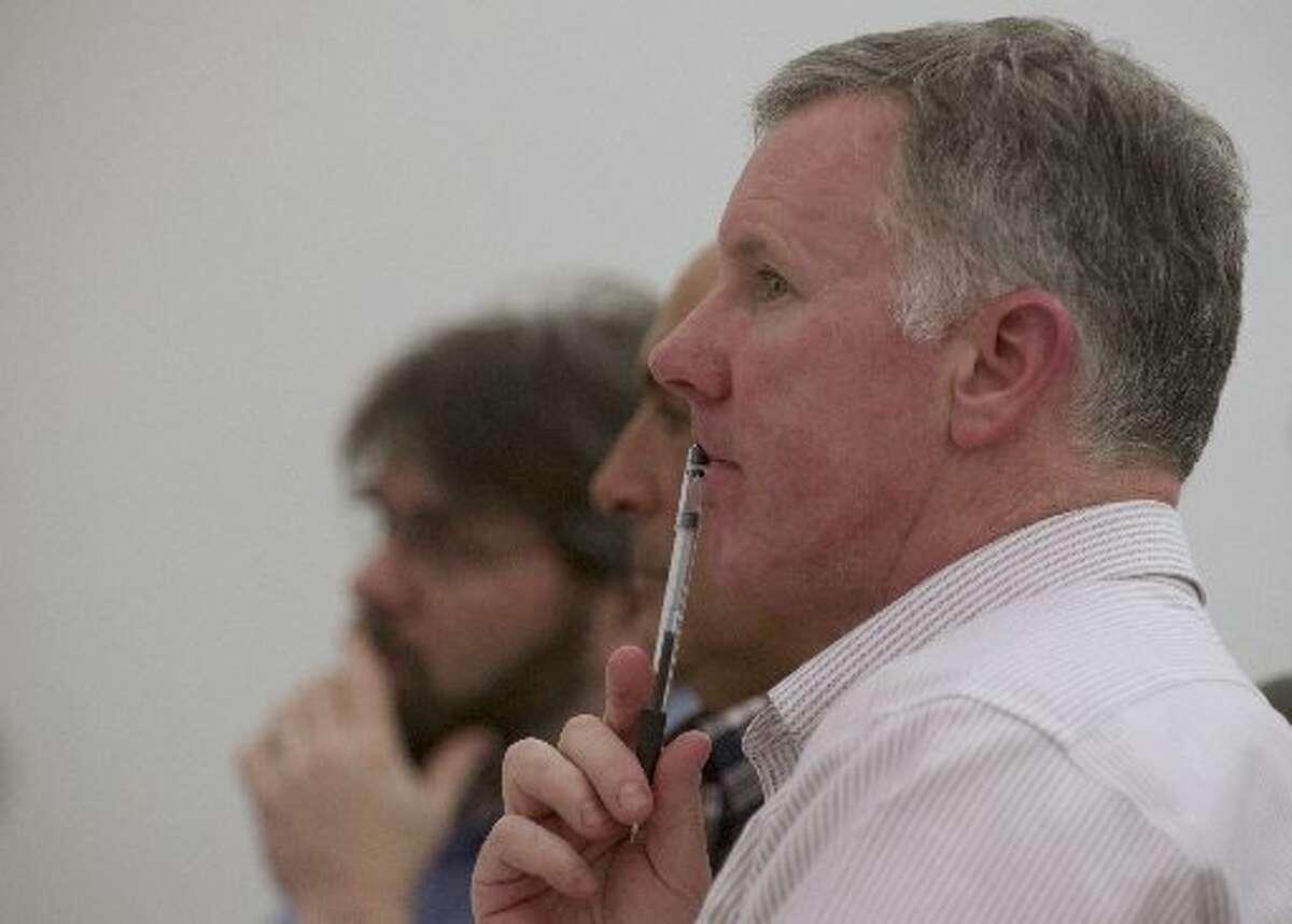 former Newtown school board member David Freedman