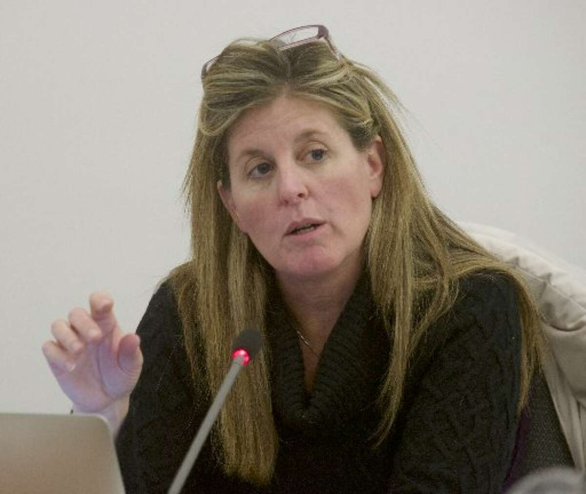 former Newtown school board member Kathryn Hamilton